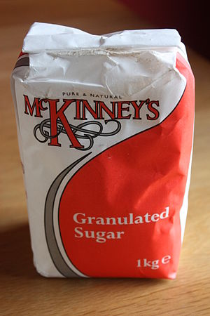 English: Bag of sugar, Downpatrick, County Dow...