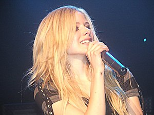 Avril Lavigne having a concert in Geneva