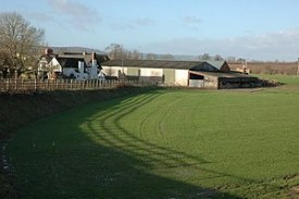 English: Bridge Farm, Bridge Sollers Viewed fr...