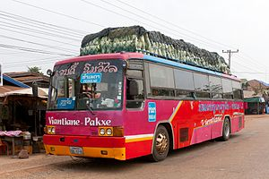 English: Vientiane - Pakse regular bus (Hyunda...