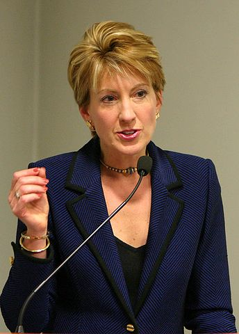 Good little rich hypocrite Christian, Carly Fiorina, who thinks working people's pensions are