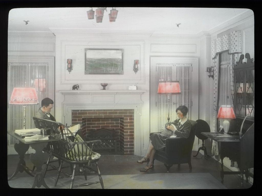 File Couple In Living Room Circa 1930s Jpg Wikimedia