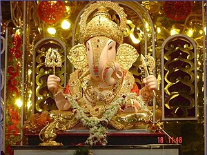 English: Dagdusheth Ganpati 2005