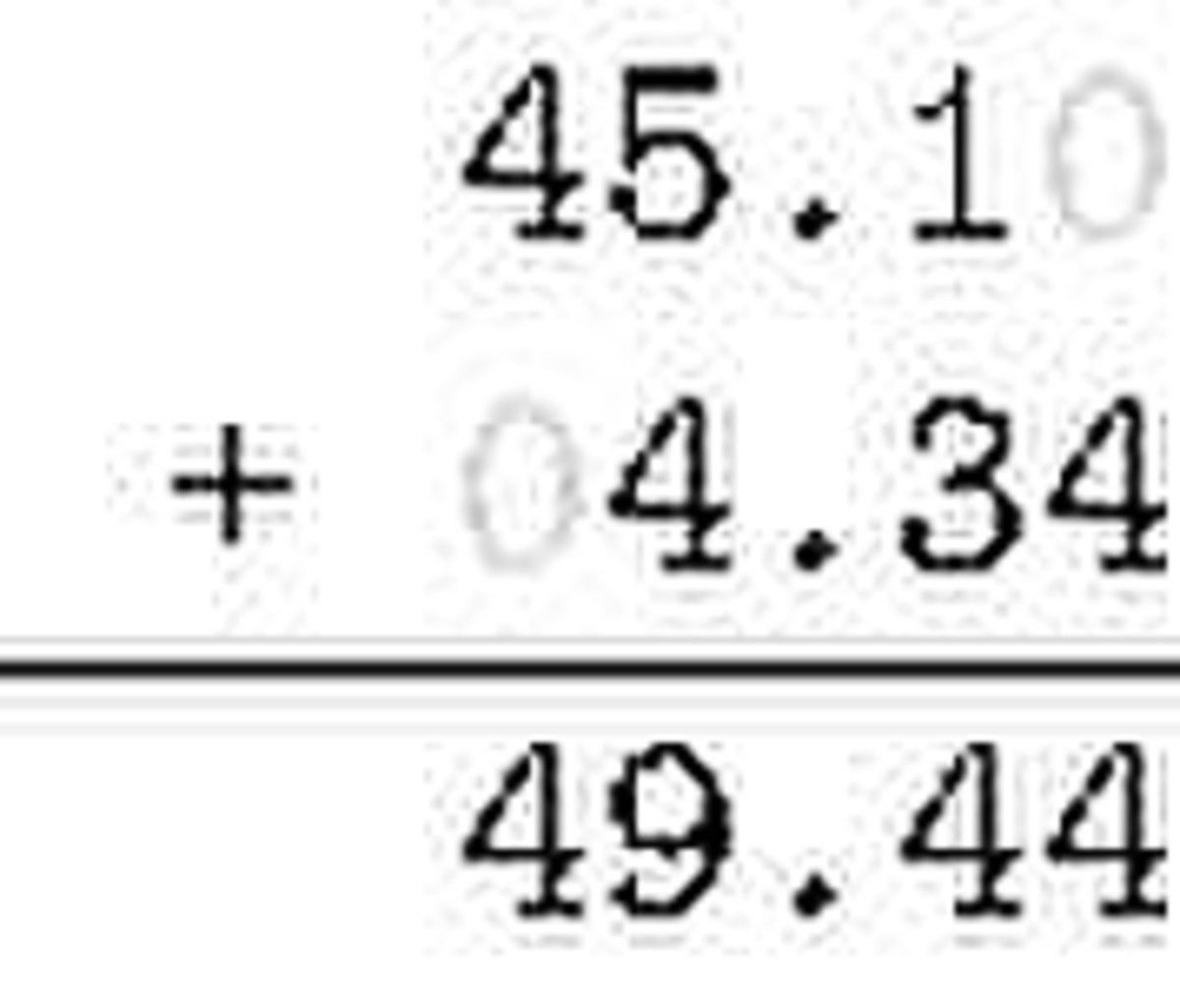 File Decimal Fraction Addition Demonstration