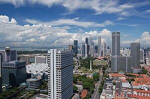 Downtown Core, Singapore's business centre.