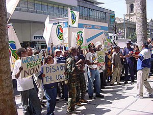 ECOPEACE Party Protest at USA consul Durban