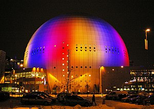 Stockholm's Globen, the venue for the final of...