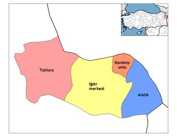 Districts of Iğdır