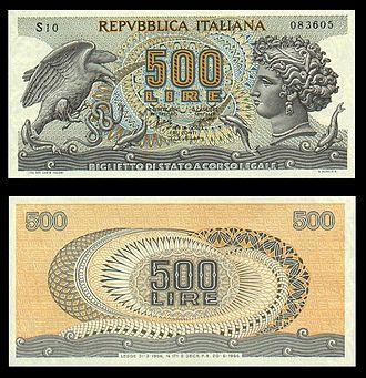 500 Lire Banconota Wikipedia