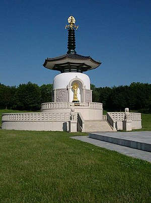 The Peace Pagoda in Willen, Milton Keynes