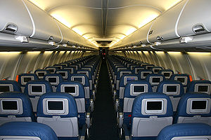 English: New interior on Delta Air Lines' Boei...