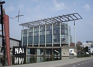 Nederlands: Rotterdam, Museumpark. Het NAI.