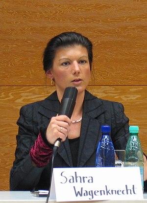 Deutsch: Die Politikerin Sahra Wagenknecht bei...