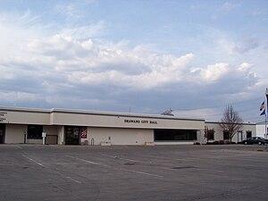The city hall for Shawano, Wisconsin.