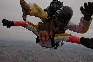 English: tandem sky-diving in Cordoba, Argentina