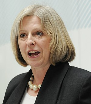 English: The UK's new Home Secretary, Theresa ...