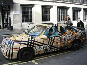 English: A Chav Mobile. One of the cars at the...