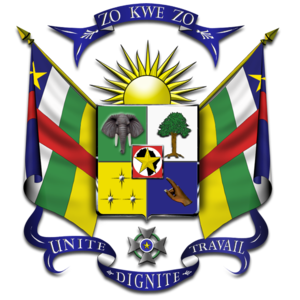 English: Coat of Arms of the Central African R...