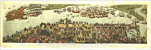 The Cowdray engraving of the battle of the Sol...