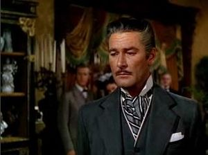 Cropped screenshot of Errol Flynn from the fil...