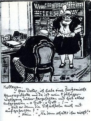 """Deutsch: Kollegen. """"Herr Doctor, ich habe..."""