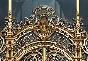 Coat of arms of Paris, France. Ironworks of th...