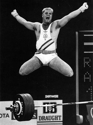English: Photo of weightlifter Jason Robert Cl...