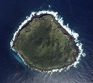 English: Aerial Photo of Kubajima of Senkaku I...