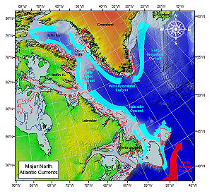 Major North Atlantic currents.