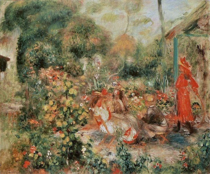 File:Pierre-Auguste Renoir - Jeunes Filles dans un jardin.jpg