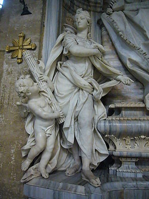 Italiano: Roma, basilica di san Marco, angelo ...