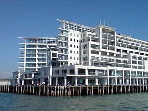 English: The Princes Wharf development in Auck...