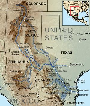 Map showing the Rio Grande drainage basin.