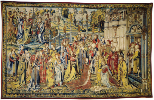 Story of David tapestry David Sees Bathsheba Washing