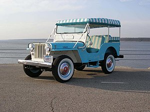 1964-Willys Jeep Surrey Gala in Blue