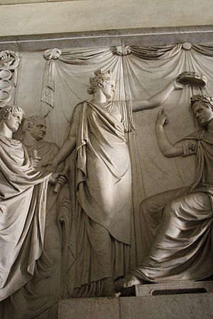 Allegory of Italy putting the Iron Crown on Na...