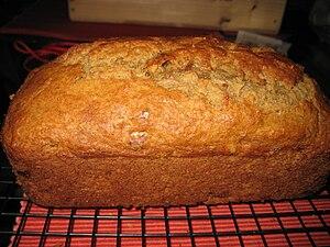 Banana bread loaf.