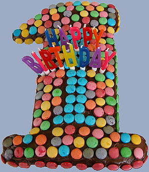 Cropped version of a PD birthday cake image, s...