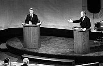 President Gerald Ford and Jimmy Carter meet at...