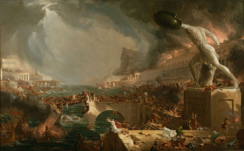 Thomas Cole The Course of Empire 1936 - Destruction