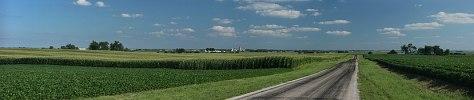 Corn fields near Cayuga, Indiana