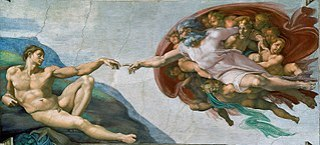 """The Creation of Adam"", hasil karya Michelangelo."