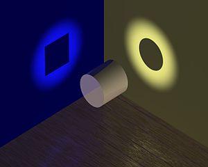 Imagen ilustrativa de la dualidad onda-partícula, en el cual se puede ver cómo un mismo fenómeno puede tener dos percepciones distintas.