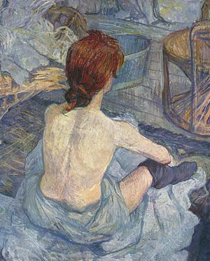 La Toilette, early painting