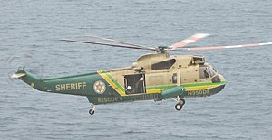 English: Los Angeles County Sheriff helicopter...