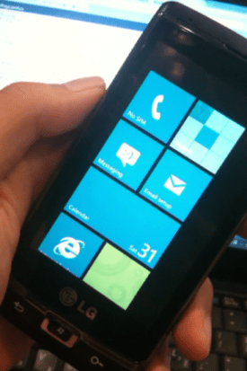 English: Windows Phone 7 powered LG Panther(GW...
