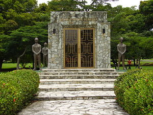 Omar Torrijos Mausoleum in Amador, Panama City...