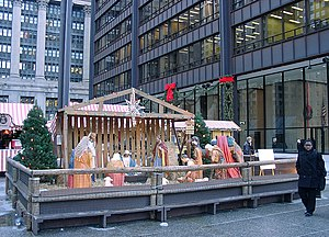 Nativity scene on the 2001 Christkindlmarket i...