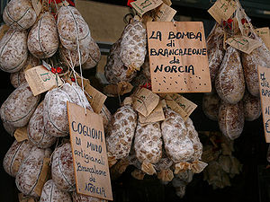 Norcia is famous for it's sausages