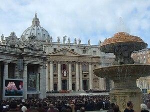 Español: En la plaza San Pedro del Vaticano en...